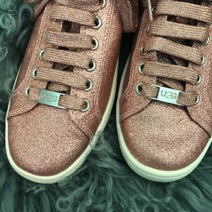 UGG Shoes - New UGG Pink Milo Glitter Sneaker Sz 7